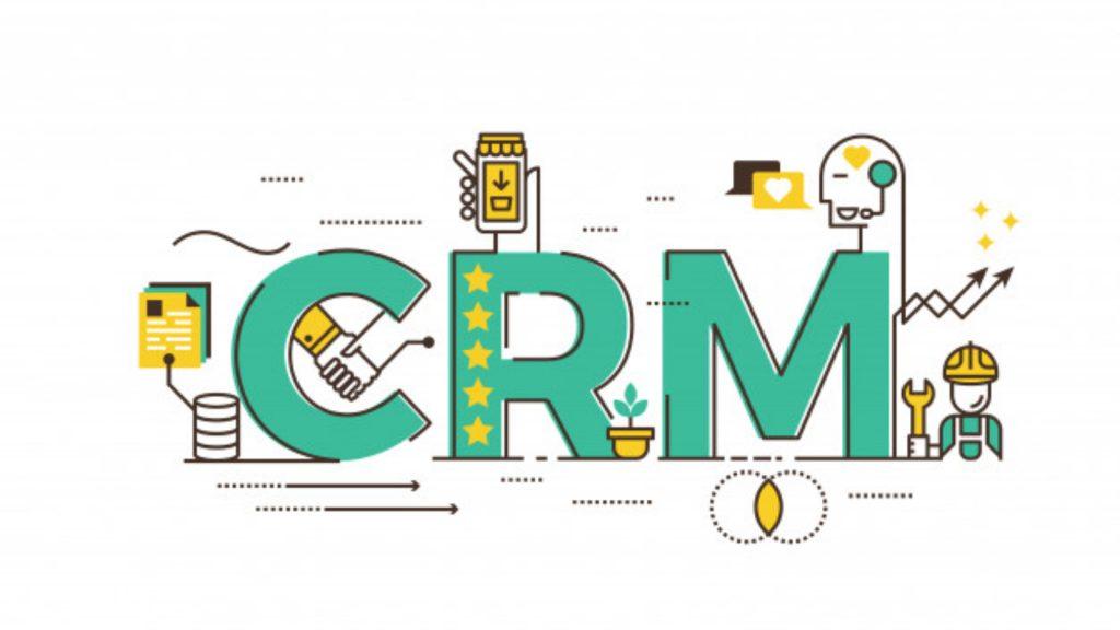 Ilustração em verde sobre CRM