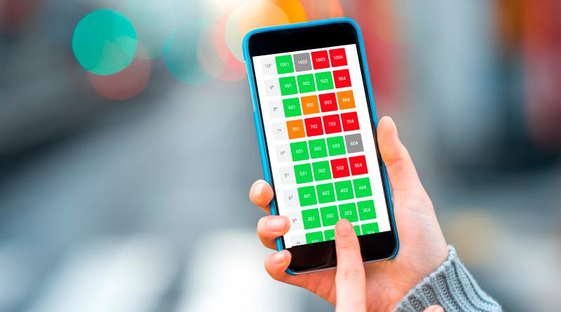 celular utilizando um aplicativo com gestão de espelho de vendas