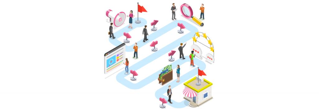 Ilustração sobre marketing digital