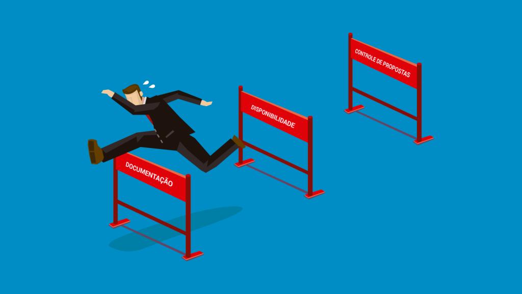 Ilustração sobre a gestão de vendas