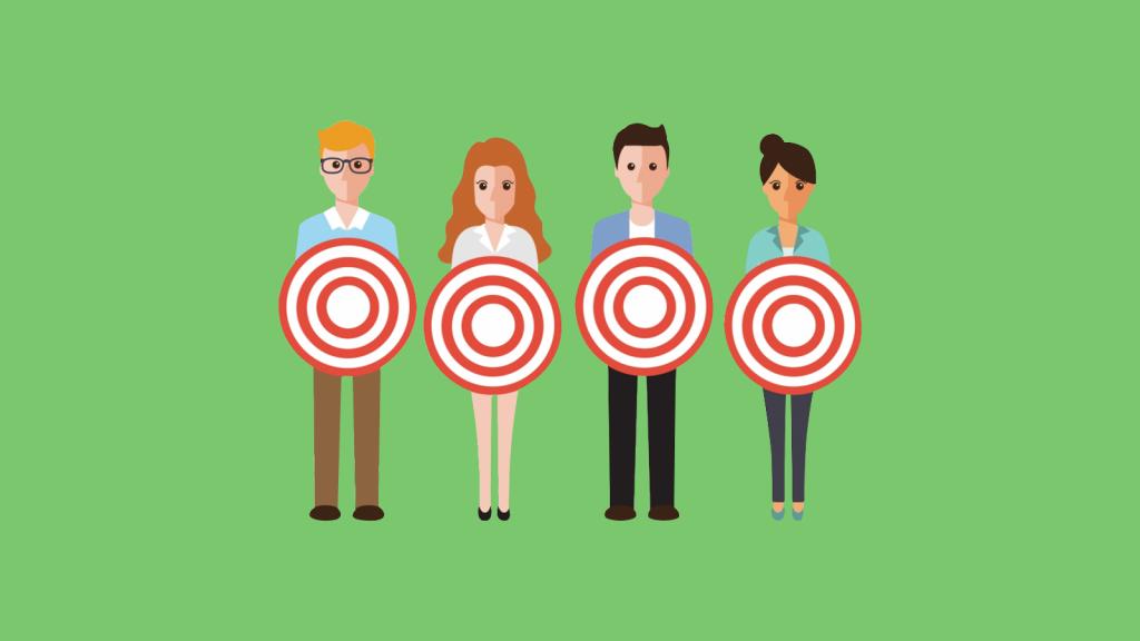 Ilustração sobre segmentação de público em anúncios